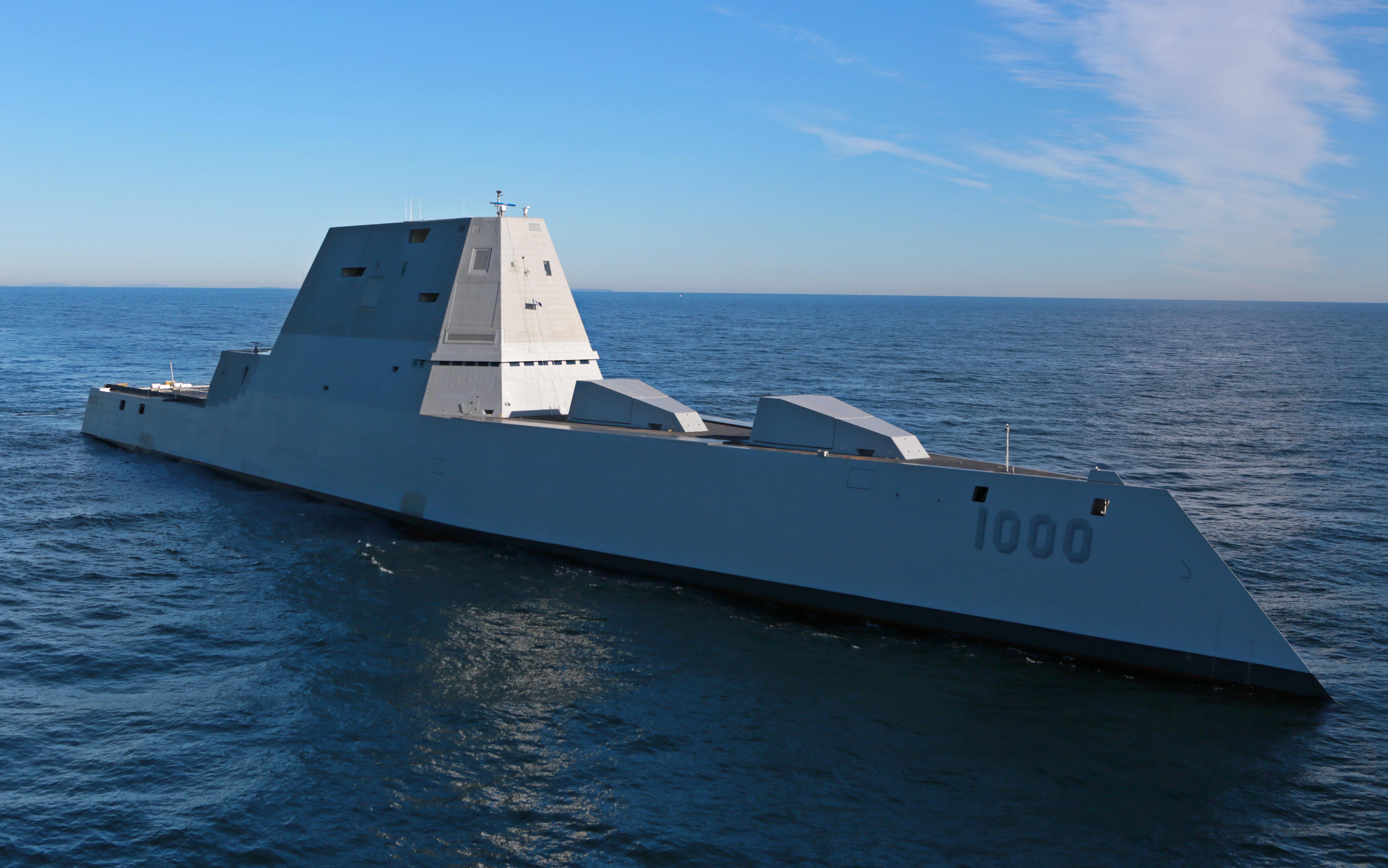USS ZUMWALT DDG-1000 Erste See-Erprobung Bild: U.S. Navy