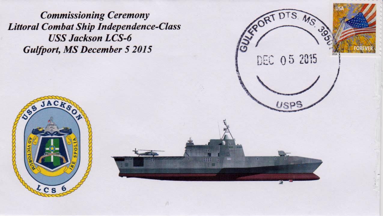 Beleg USS JACKSON LCS-6 Indienststellung Gulfport von Karl Friedrich Weyland