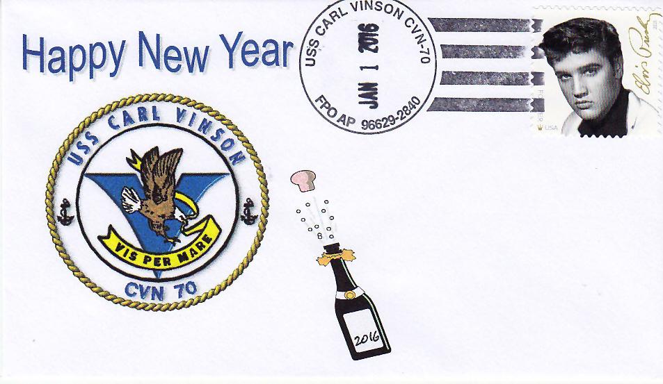 Beleg USS CARL VINSON CVN-70 Neujahr 2016
