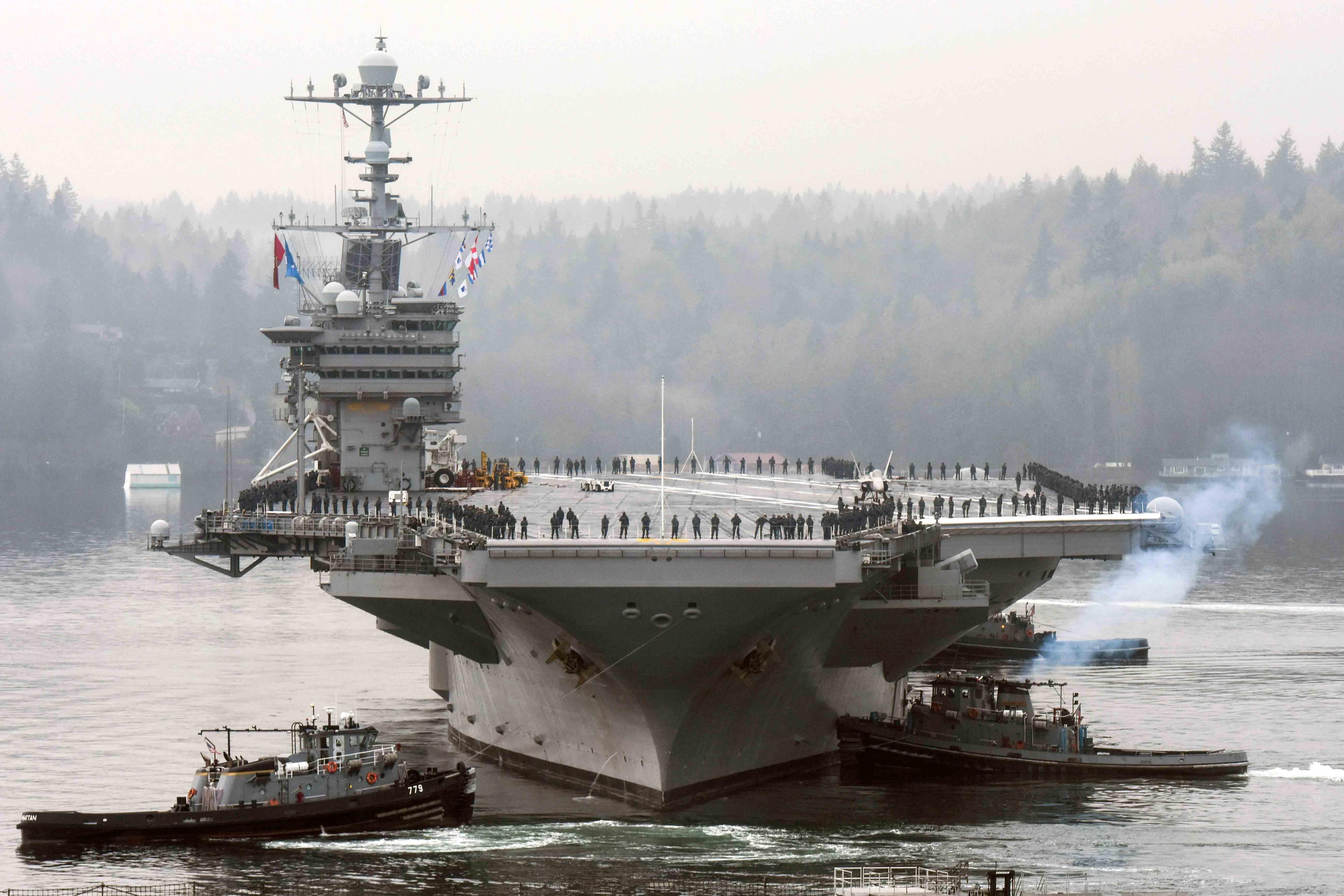 USS JOHN C. STENNIS CVN-74 Auslaufen Bremerton am 15.01.2016 Bild: U.S. Navy