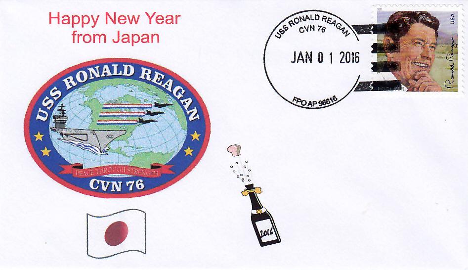 USS RONALD REAGAN CVN-76 Neujahr 2016
