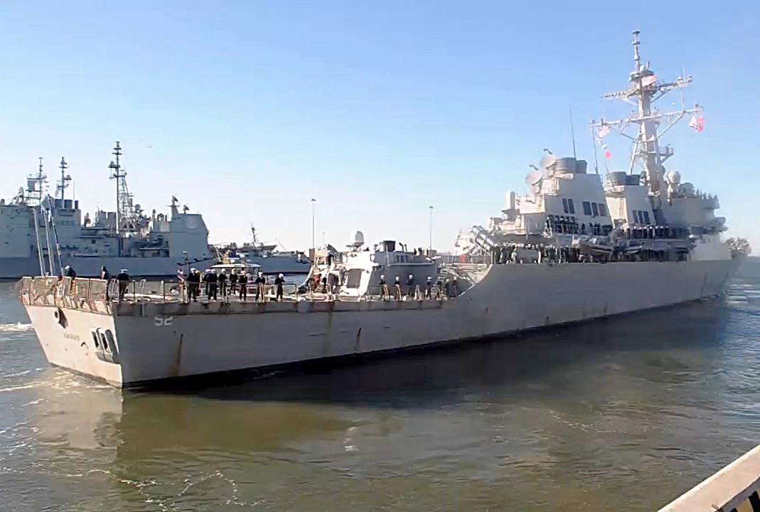 USS BARRY DDG-52 Auslaufen Norfolk am 12.01.2016 Bild: U.S. Navy