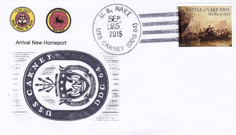 Beleg USS CARNEY DDG-64 Ankunft Rota am 25.09.2015