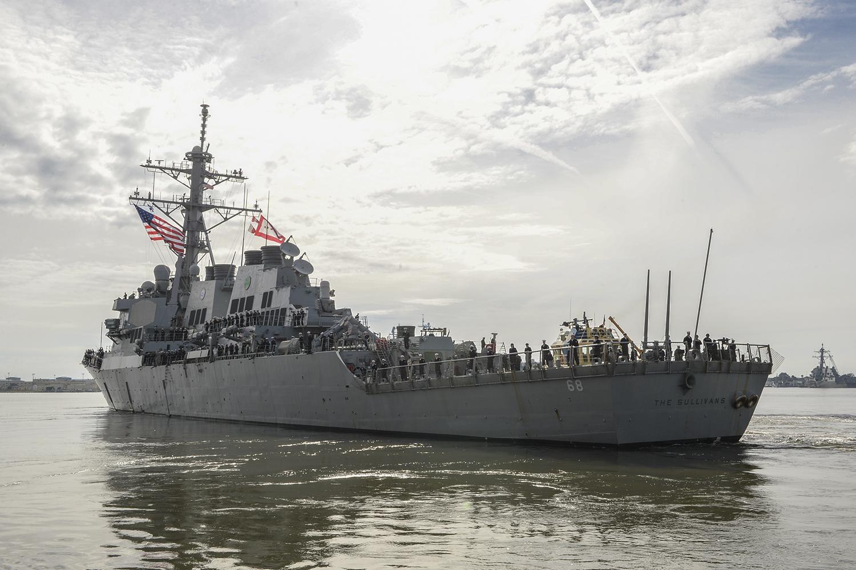 USS THE SULLIVANS DDG-68 Auslaufen Mayport am 26.01.2016 Bild: U.S. Navy