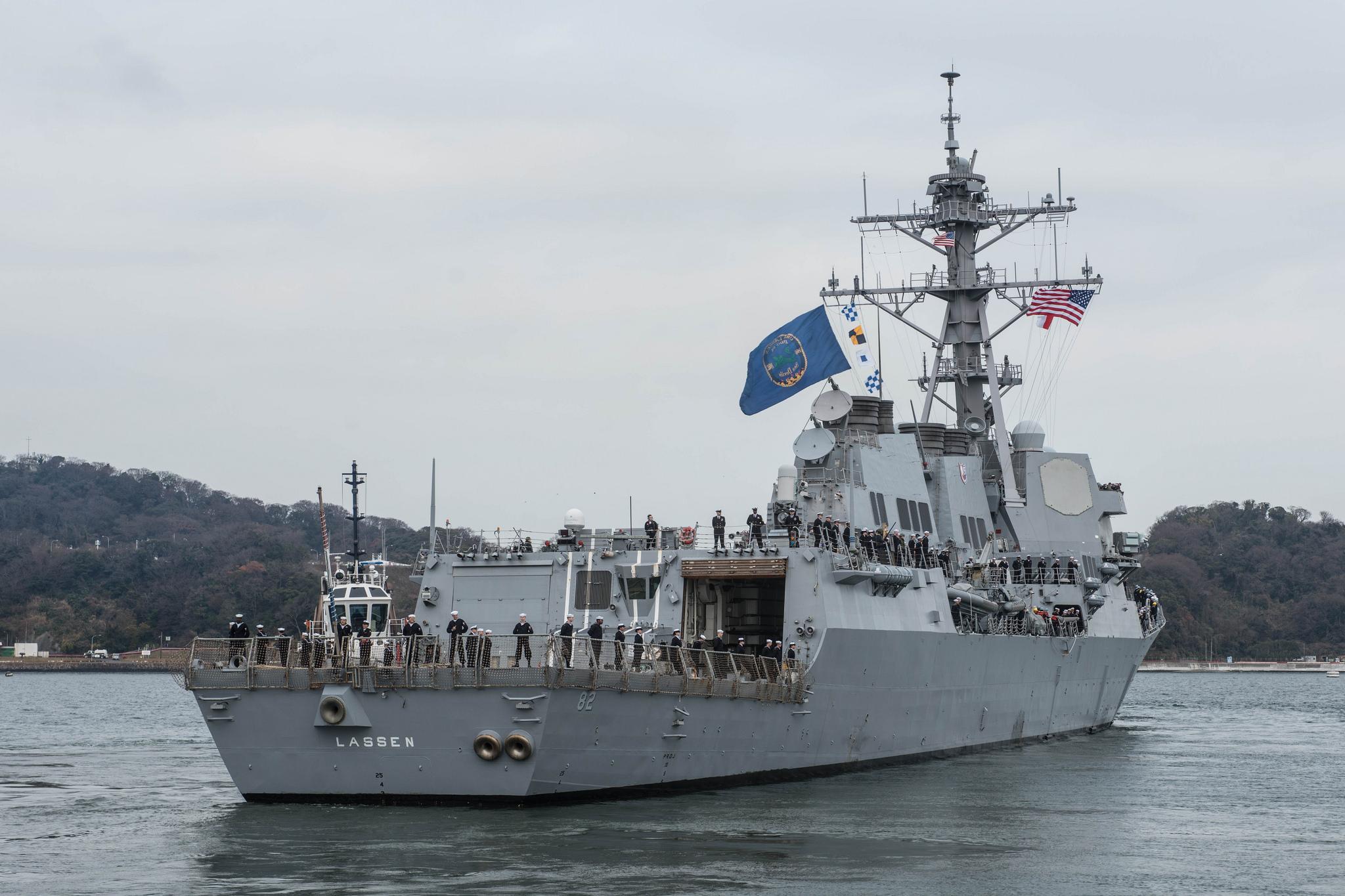 USS LASSEN DDG-82 Auslaufen Yokosuka am 06.01.2016 Bild: U.S. Navy