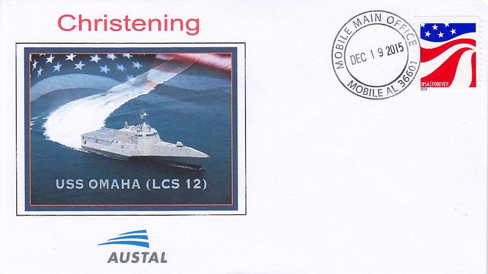 Beleg USS OMAHA LCS-12  Christening