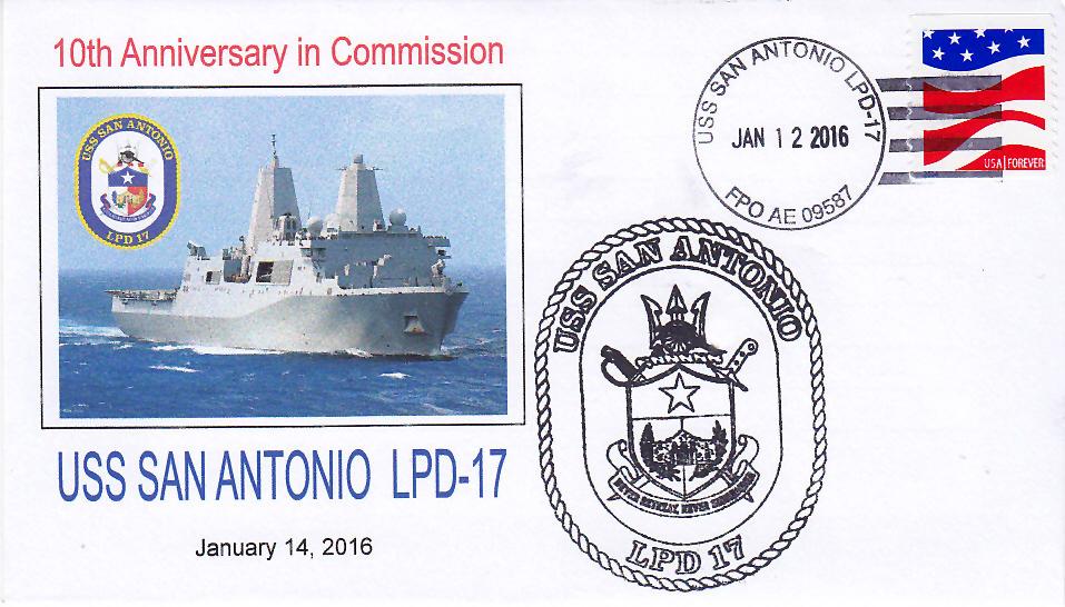 Beleg USS SAN ANTONIO LPD-17  10 Jahre im Dienst