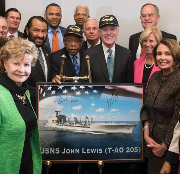USNS JOHN LEWIS T-AO 205 Naming Bild: U.S. Navy