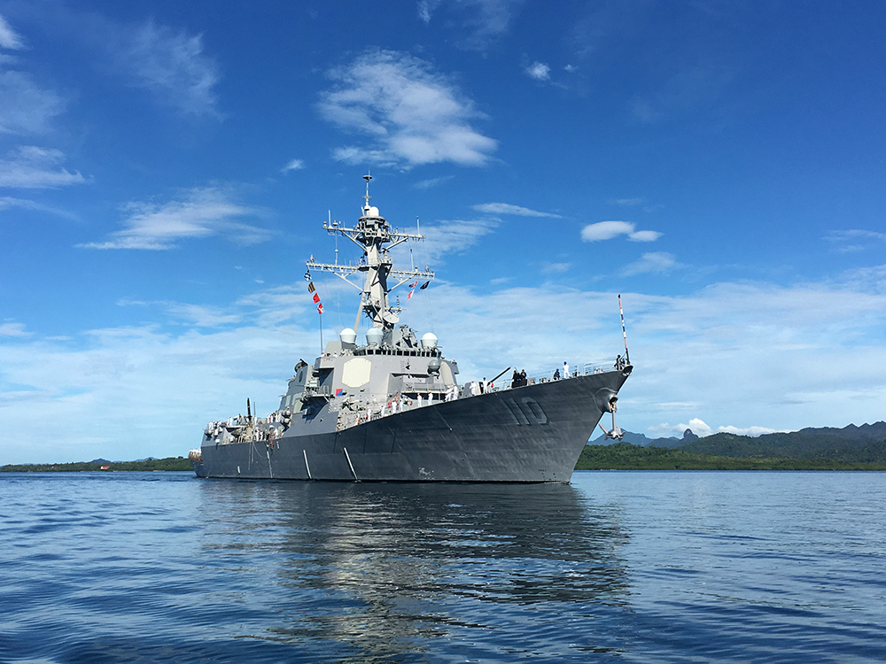 USS WILLIAM P. LAWRENCE DDG-110 am 10.02.2016 in Suva, Fiji Bild: U.S. Navy