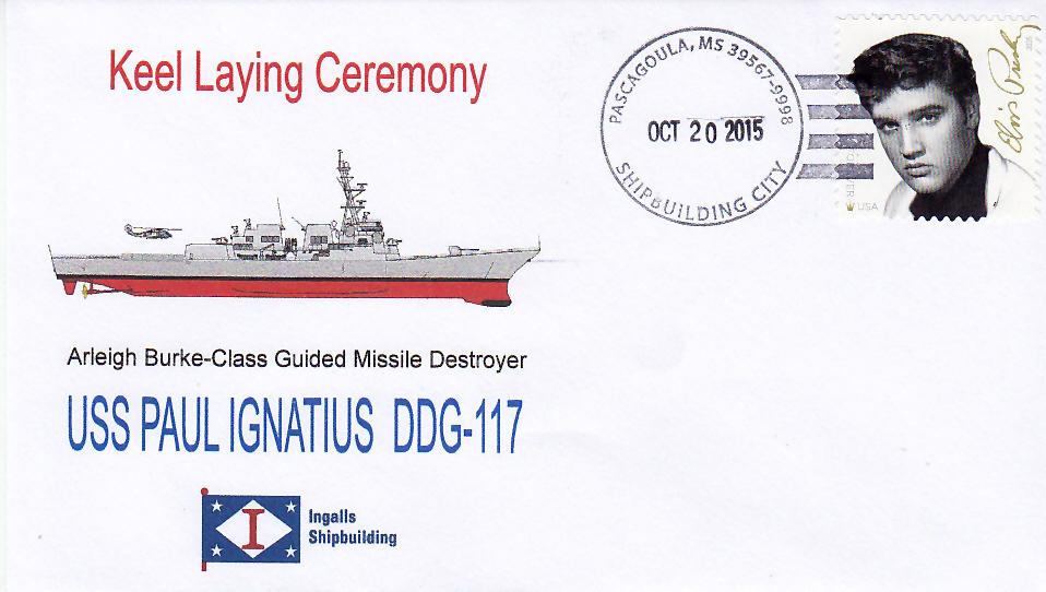 Beleg USS PAUL IGNATIUS DDG-117 Keel Laying