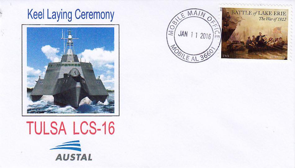 Beleg USS TULSA LCS-16 Kiellegung
