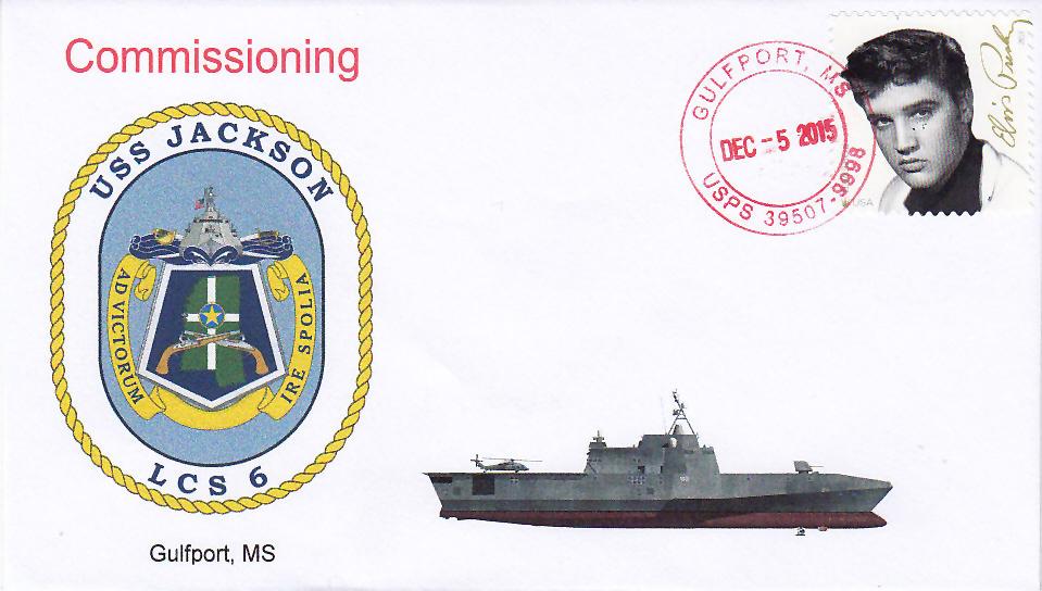 Beleg USS JACKSON LCS-6 Indienststellung