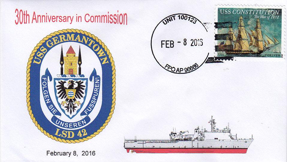 Beleg USS GERMANTOWN LSD-42  30 Jahre im Dienst