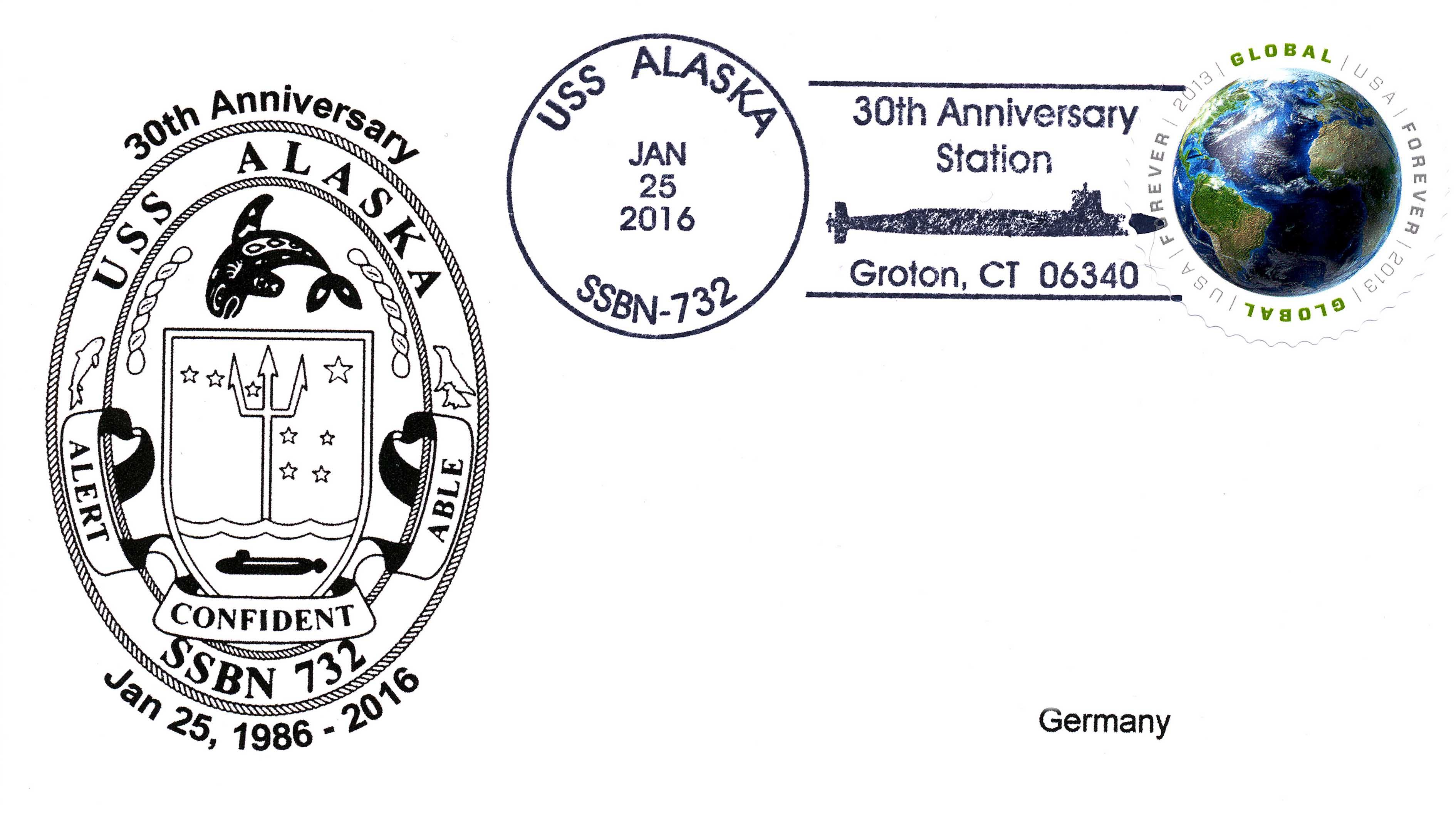 Beleg USS ALASKA SSBN-732  30 Jahre im Dienst von Wolfgang Hechler