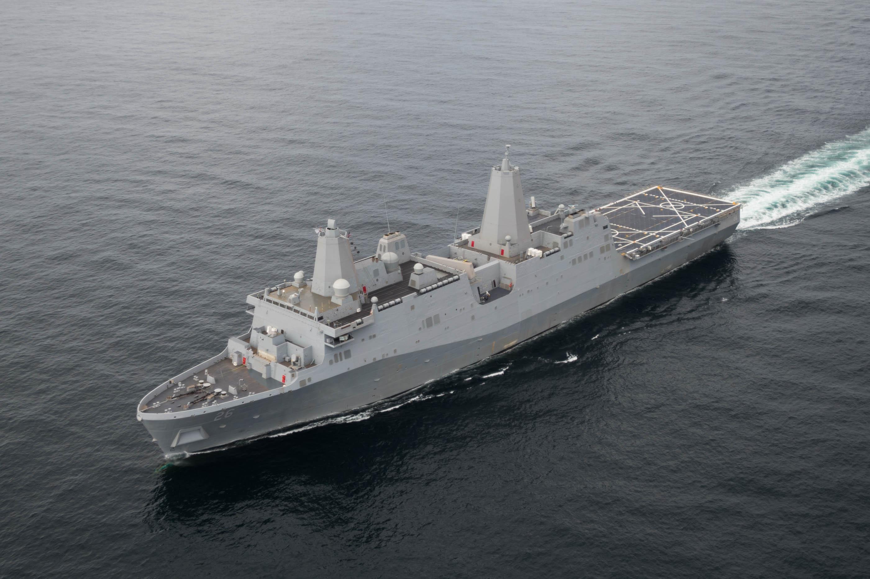 USS JOHN P. MURTHA LPD-26 See-Erprobung Bild: Huntington Industries