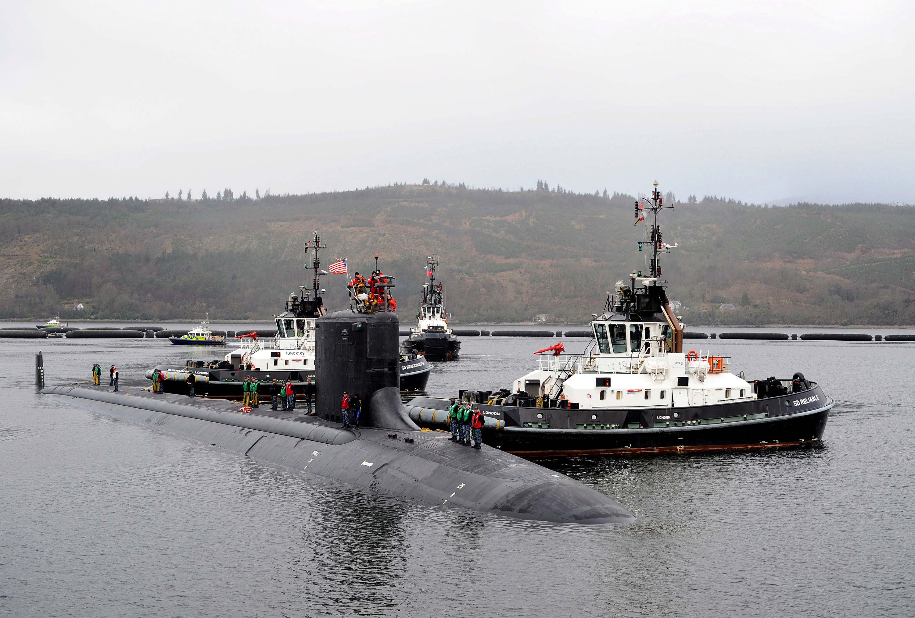 USS VIRGINIA SSN-774 in Faslane, Schottland am 22.03.2016 Bild: U.S. Navy