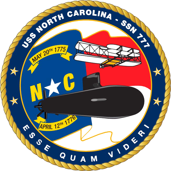 USS NORTH CAROLINA SSN-777 Crest Grafik: U.S. Navy