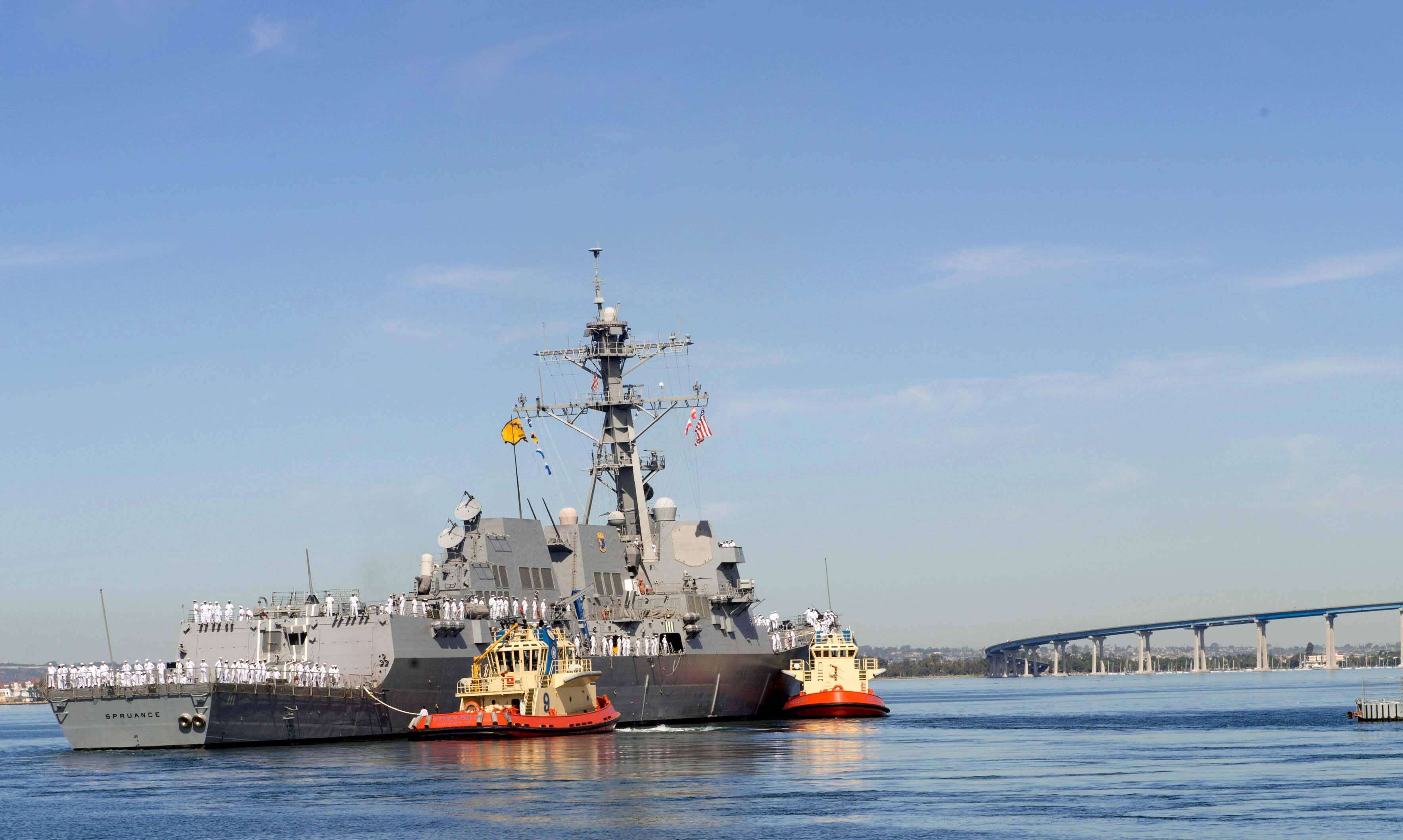 USS SPRUANCE DDG-111 Auslaufen San Diego am 19.04.2016 Bild: U.S. Navy