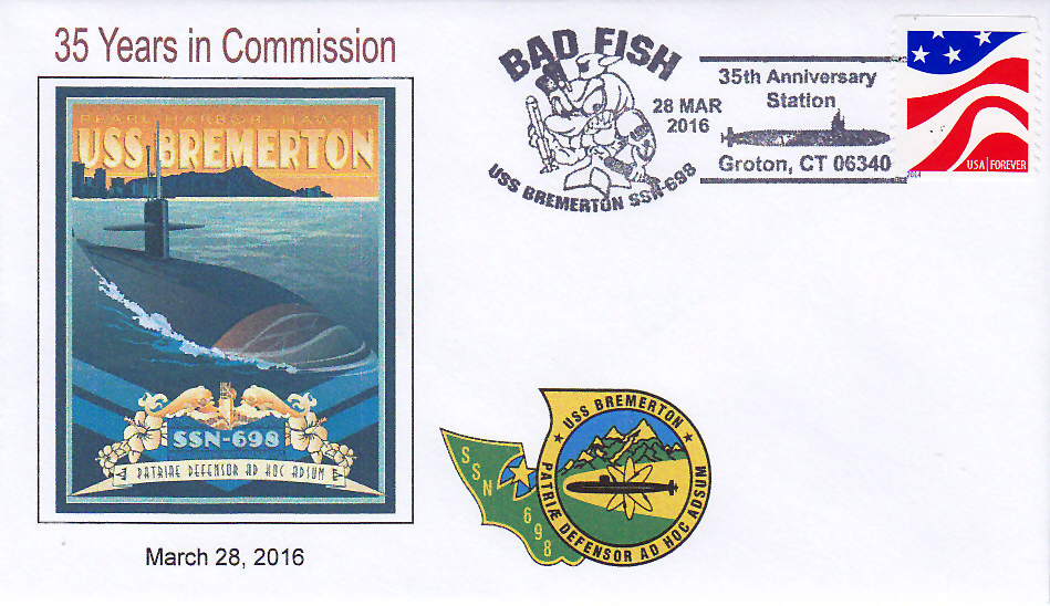 Beleg USS BREMERTON SSN-698  25 Jahre im Dienst