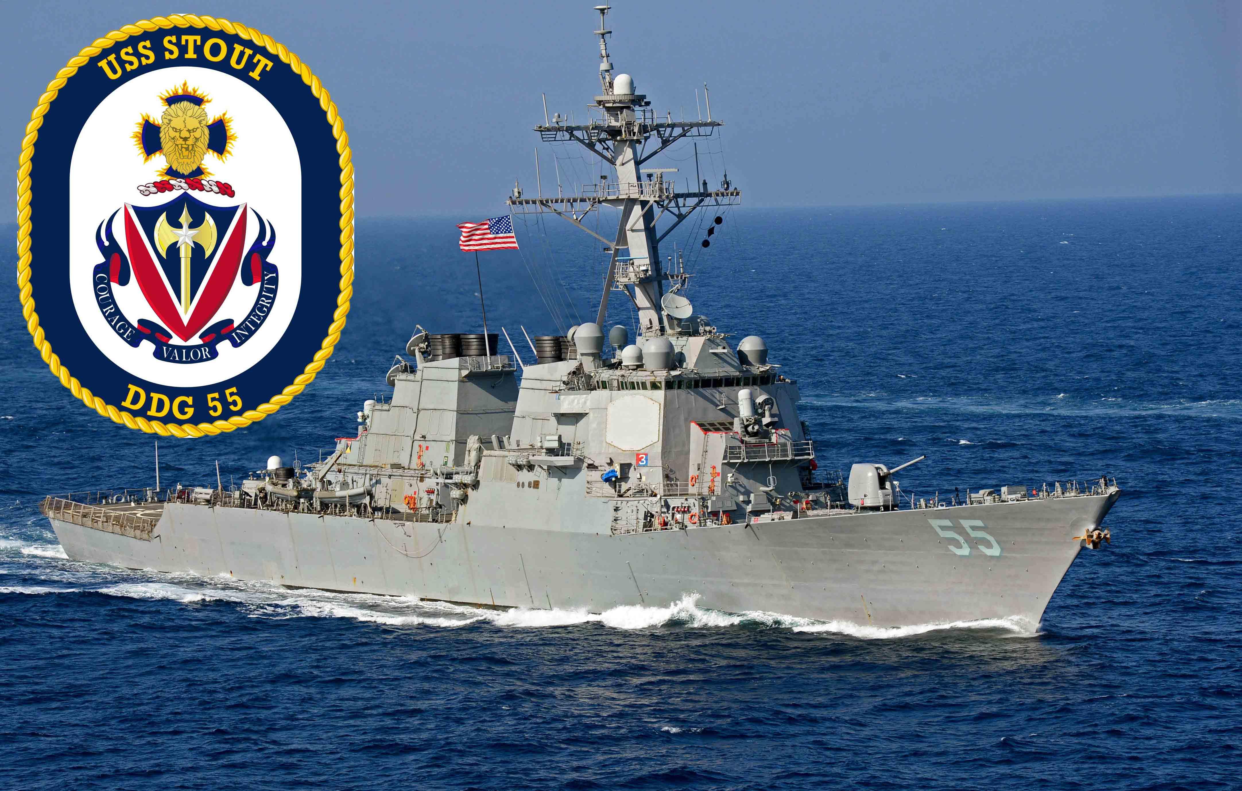 USS STOUT DDG-55 Bild und Grafik: U.S. Navy