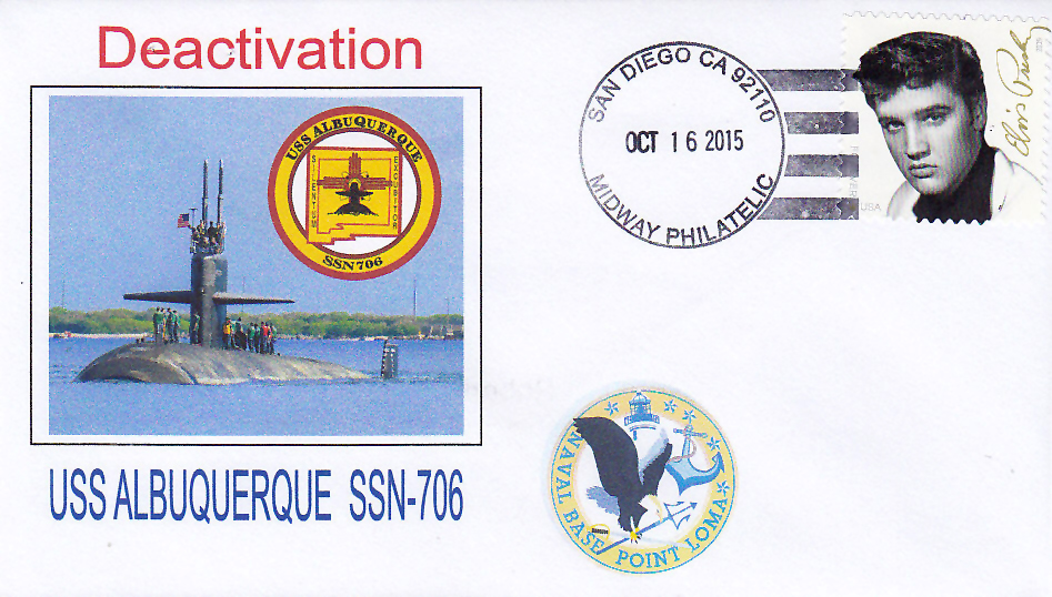 Beleg USS ALBUQUERQUE SSN-706 Deactivation