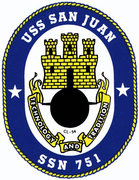 USS SAN JUAN SSN-751 Crest Grafik: U.S. Navy