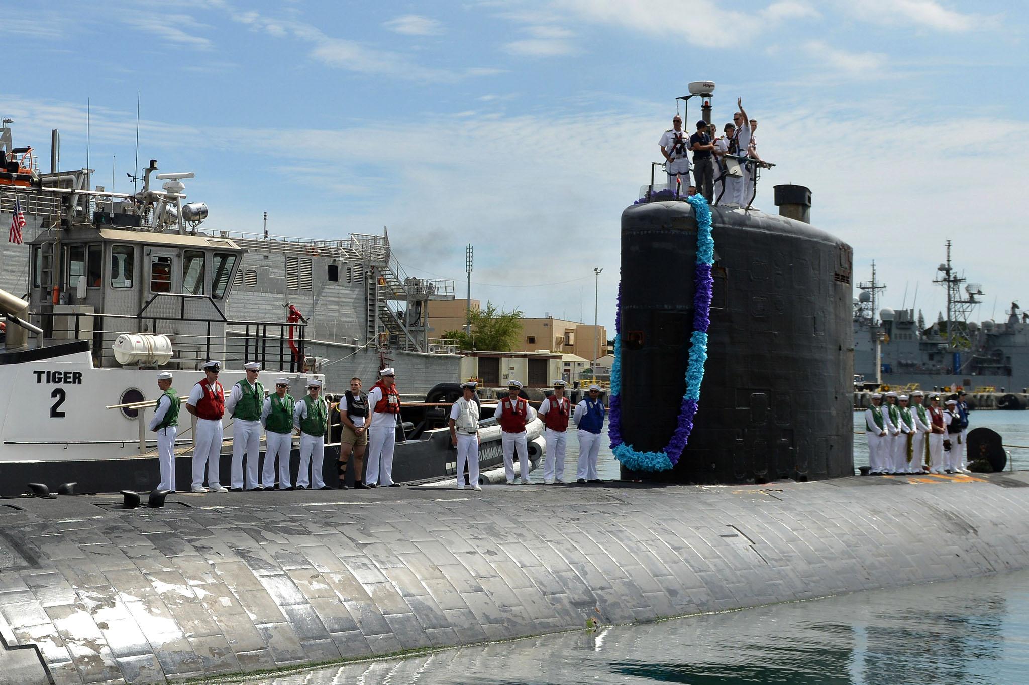 USS CHARLOTTE SSN-766 Einlaufen Pearl Harbor am 13.05.2016 Bild: U.S. Navy