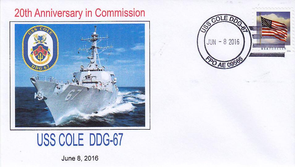 Beleg USS COLE DDG-67  20 Jahre im Dienst