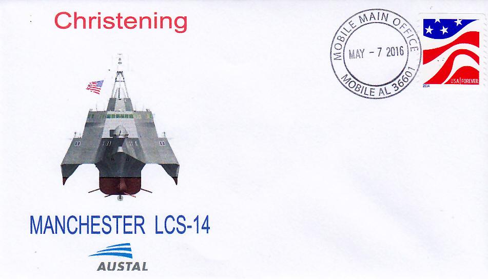 Beleg USS MANCHESTER LCS-14 Christening