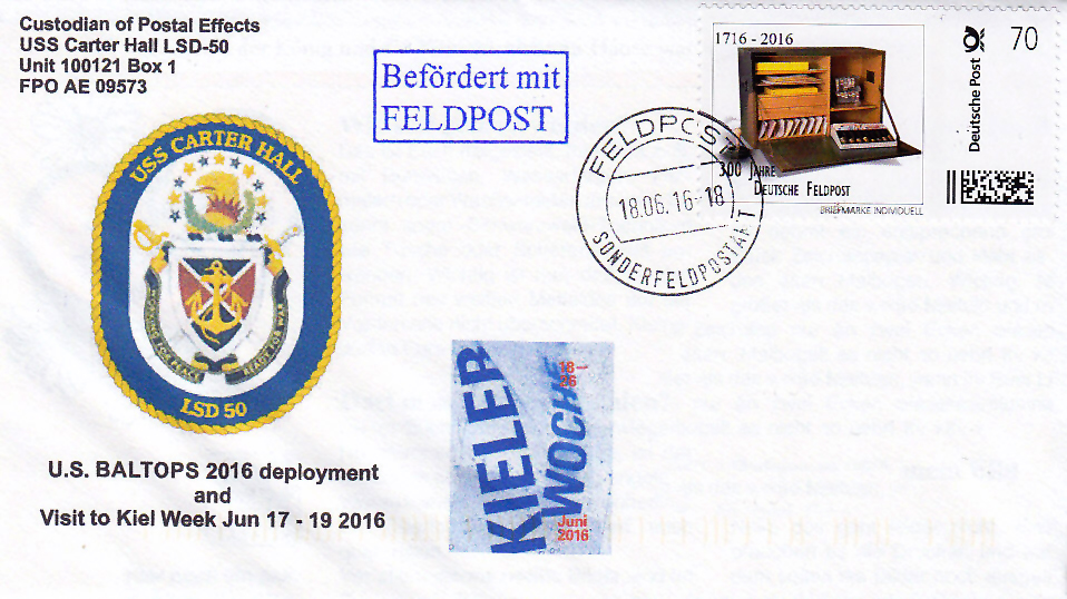 Beleg USS CARTER HALL LSD-50 Kieler Woche 2016 von Kay Neuthor