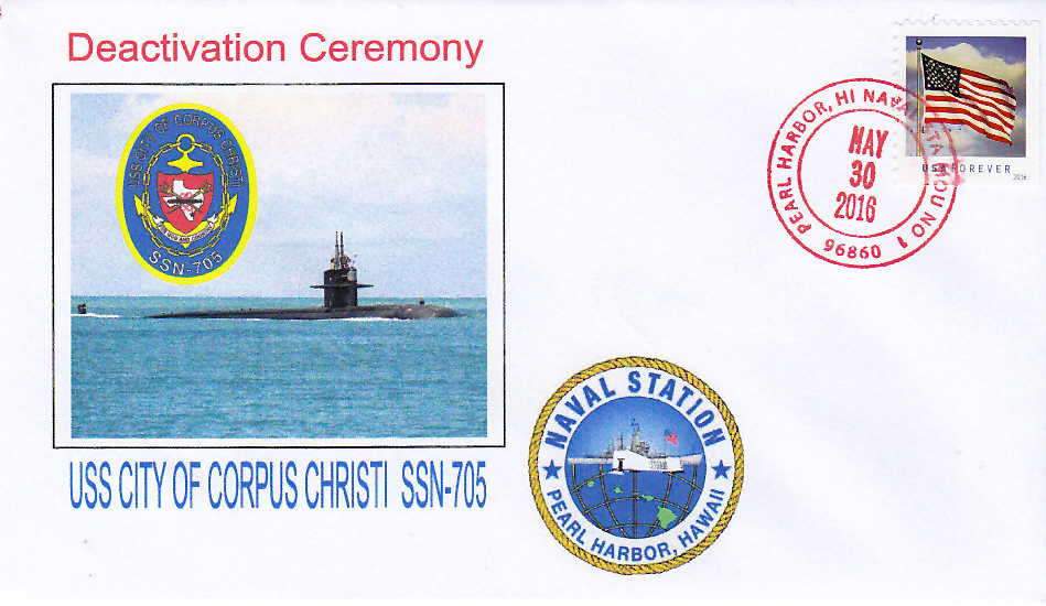 Beleg USS CITY OF CORPUS CHRISTI SSN-705 Inactivation
