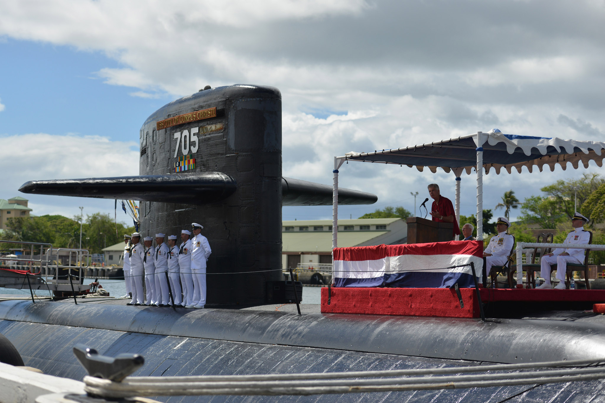 USS CITY OF CORPUS CHRISTI SSN-705 Deactivation  Bild: U.S. Navy