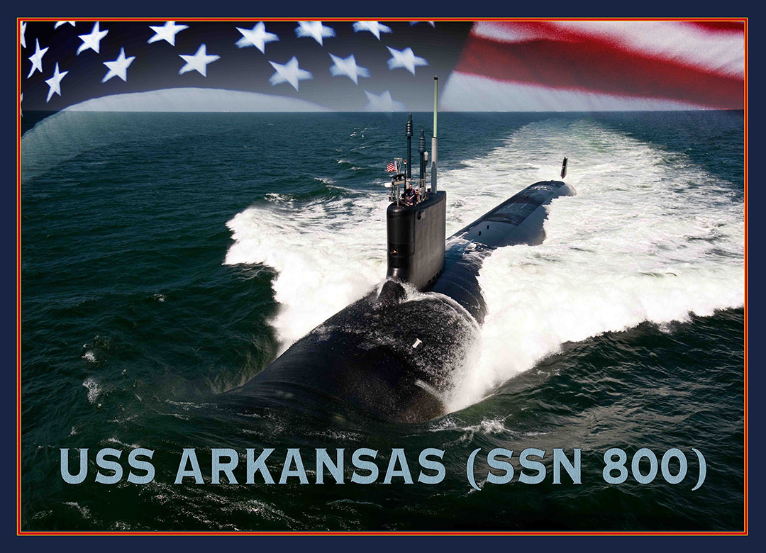 USS ARKANSAS SSN-800 Grafik: U.S. Navy
