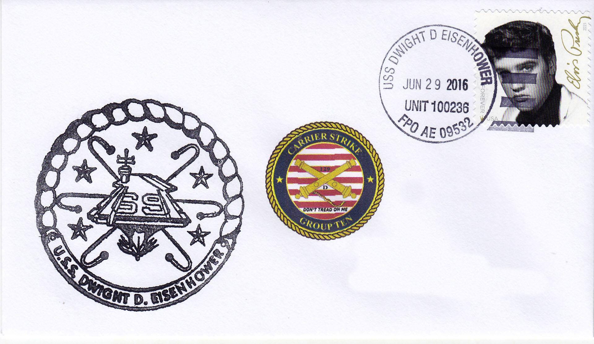 Beleg USS DWIGHT D. EISENHOWER CVN-69 vom 29.06.2016