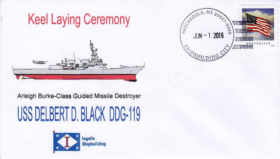 Beleg USS DELBERT D. BLACK DDG-119 Keel Laying