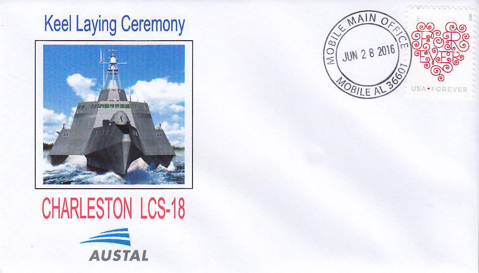 Beleg USS CHARLESTON LCS-18 Keel Laying