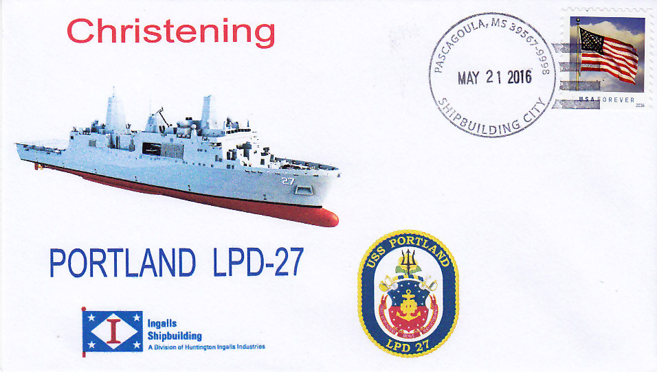 Beleg USS PORTLAND LPD-27 Taufe