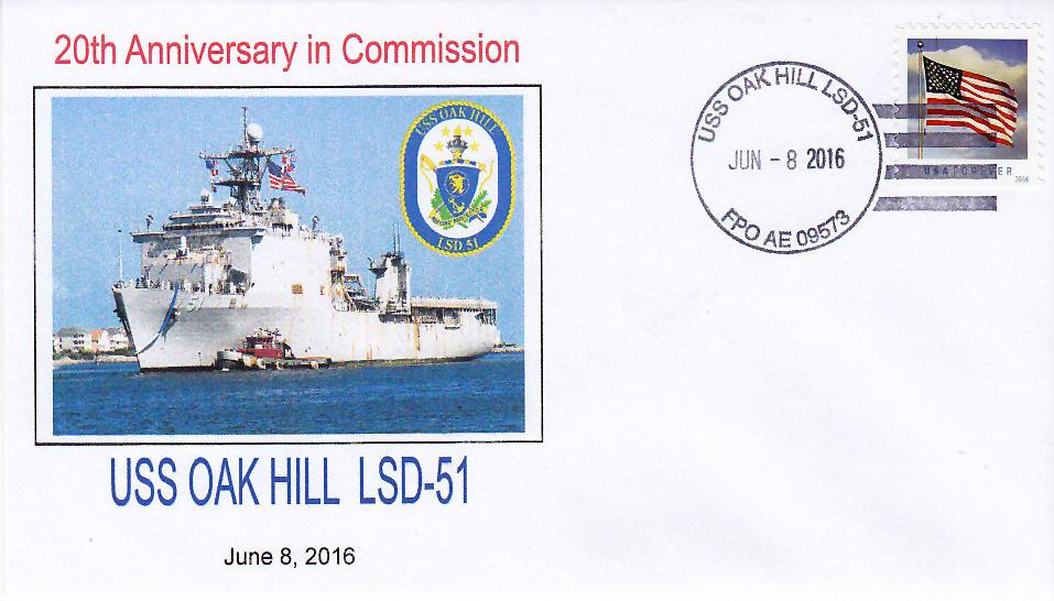 Beleg USS OAK HILL LSD-51  20 Jahre im Dienst