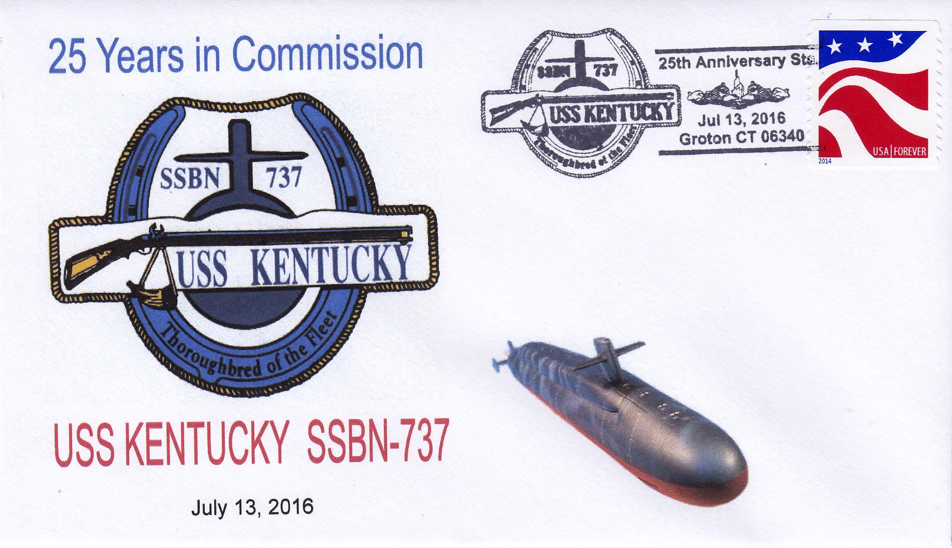 Beleg USS KENTUCKY SSBN-737  25 Jahre im Dienst