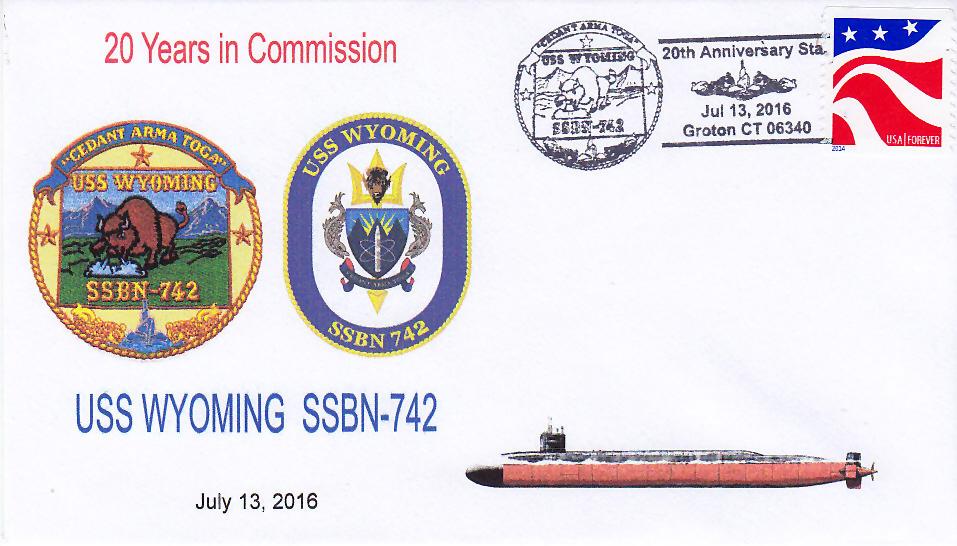 Beleg USS WYOMING SSBN-742  20 Jahre im Dienst