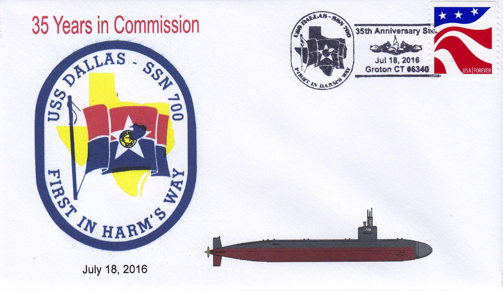 Beleg USS DALLAS SSN-700  35 Jahre im Dienst