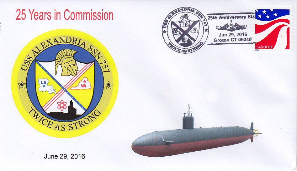 Beleg USS ALEXANDRIA SSN-757  25 Jahre im Dienst
