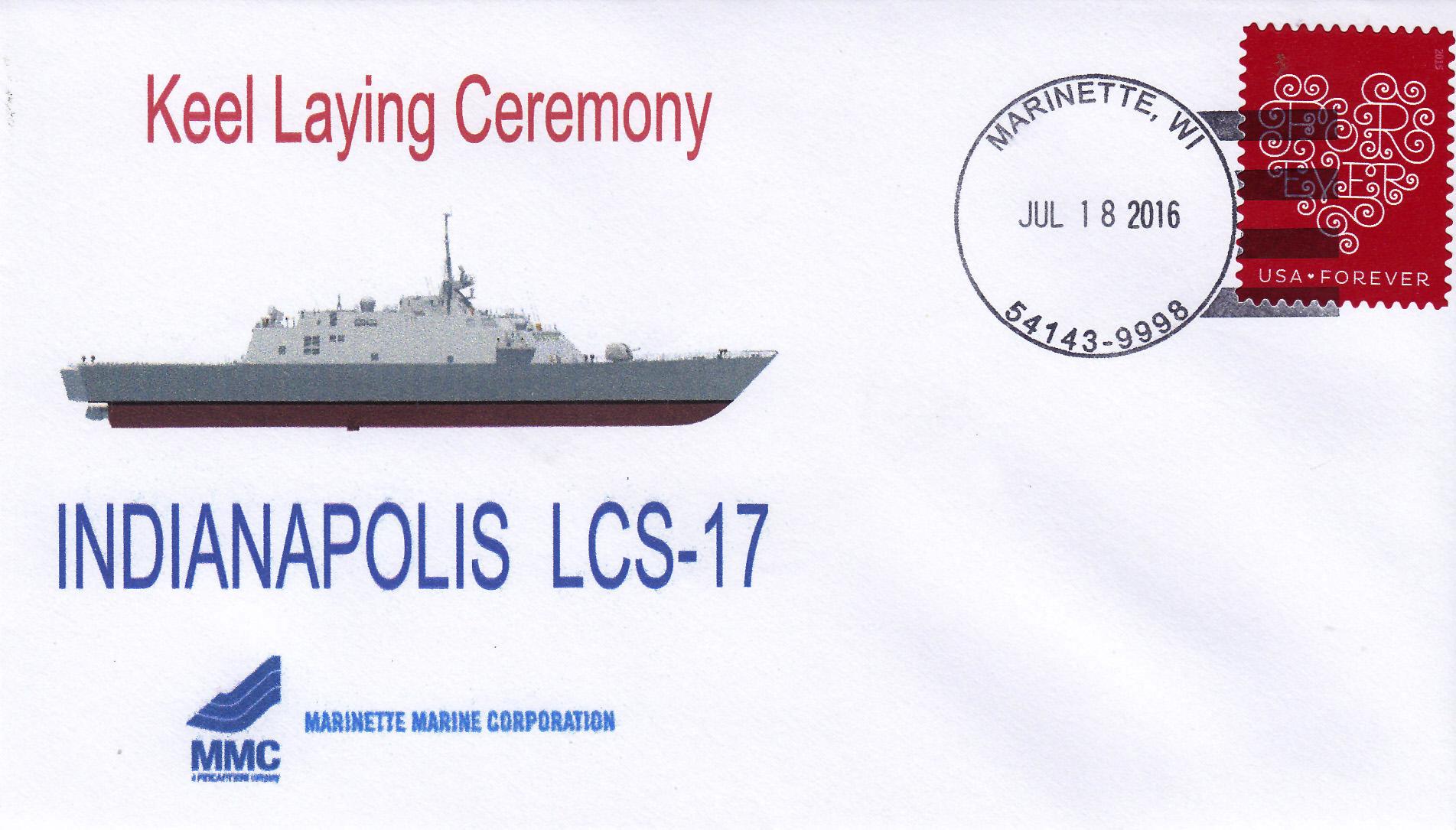 Beleg USS INDIANAPOLIS LCS-17 Keel Laying
