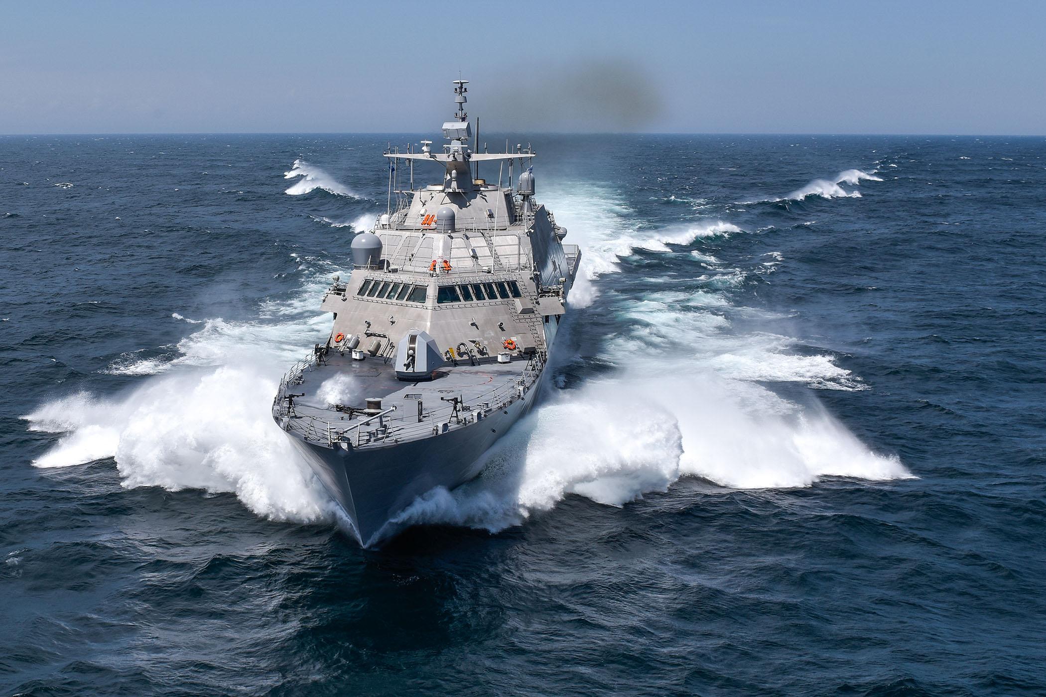 USS DETROIT LCS-7 bei der See-Erprobung Bild: Lockheed-Martin
