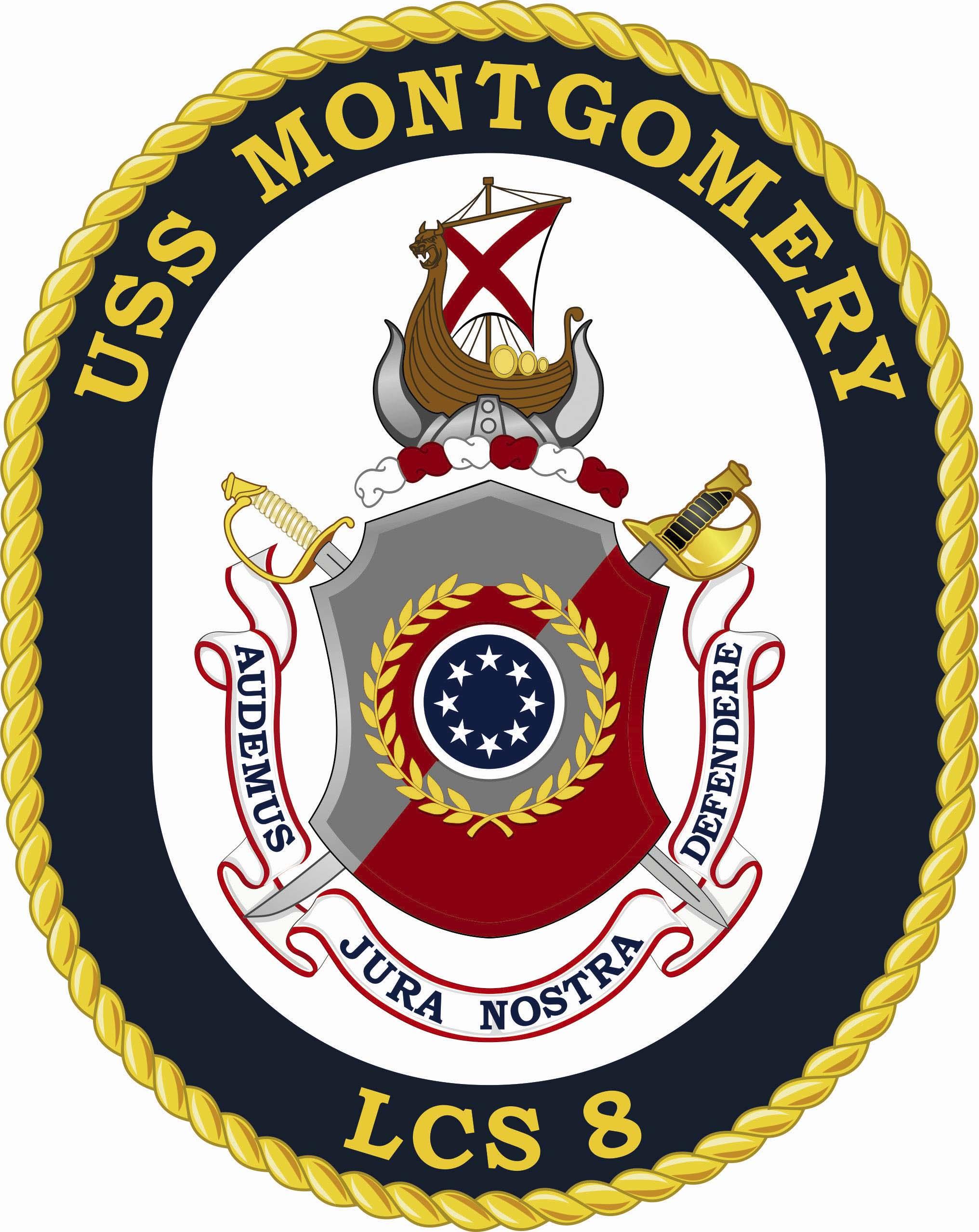 USS MONTGOMERY LCS-8 Crest Grafik: U.S. Navy