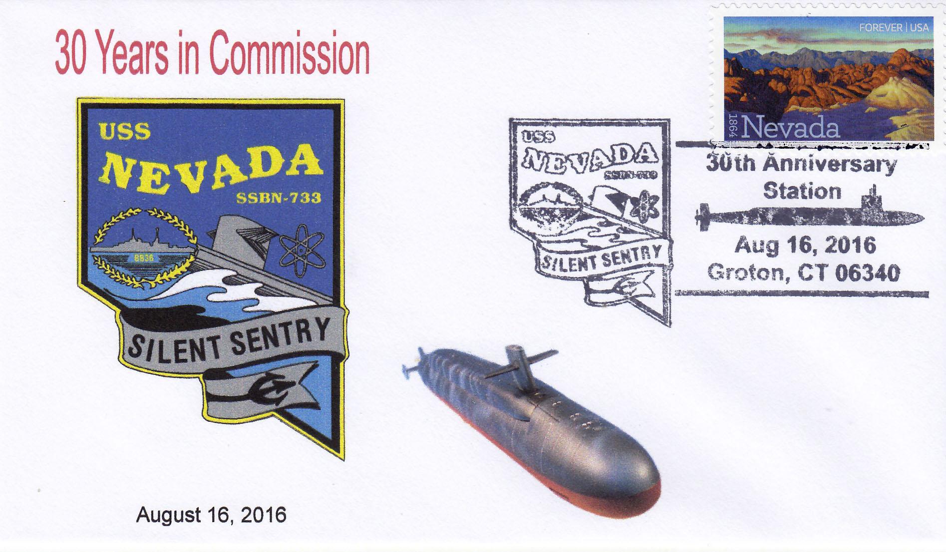 Beleg USS NEVADA SSBN-733  30 Jahre im Dienst