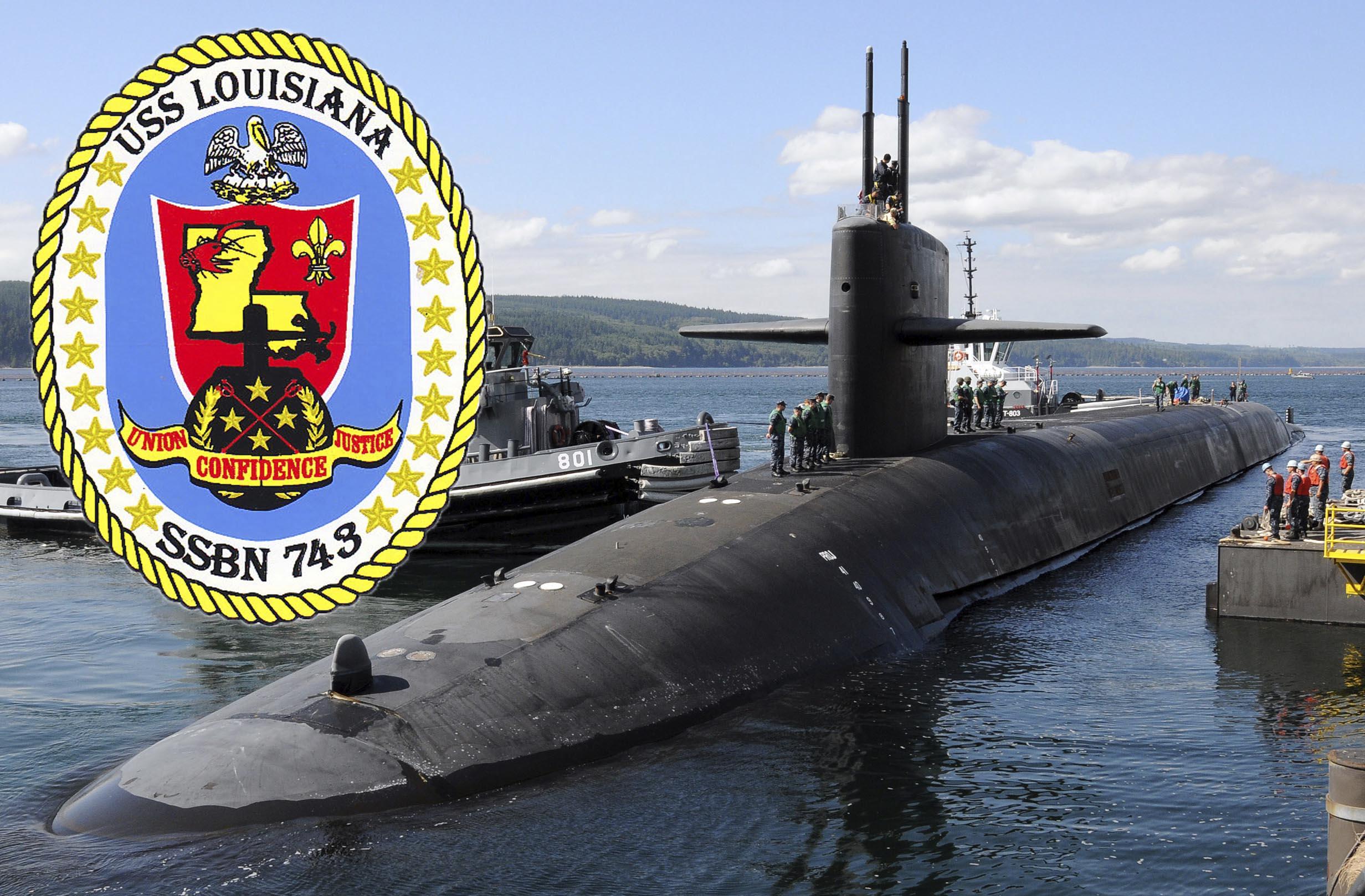 USS LOUISIANA SSBN-743 Bild und Grafik: U.S. Navy