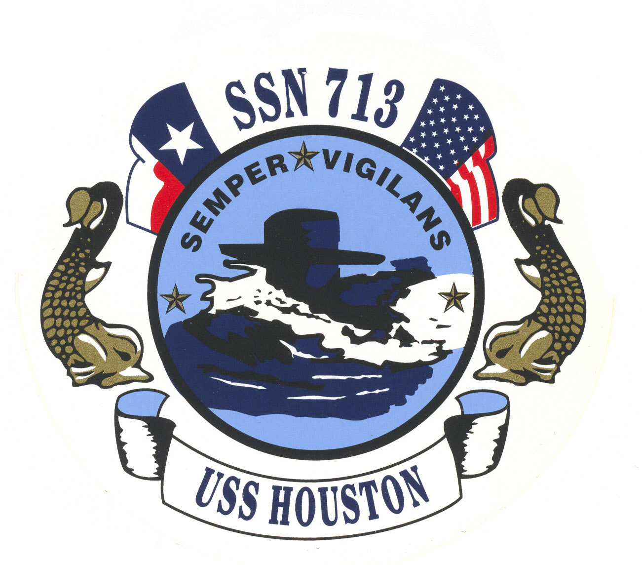 USS HOUSTON SSN-713 Crest Grafik: U.S. Navy