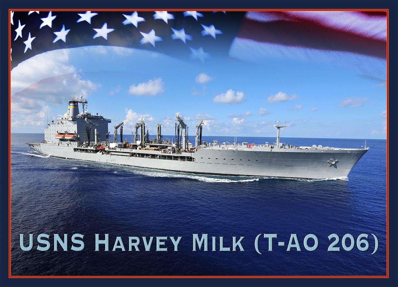 USNS HARVEY MILK T-AO 206 Grafik Grafik: U.S. naby