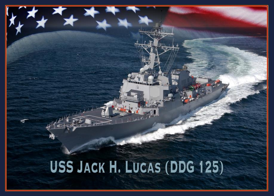 USS JACK H. LUCAS DDG-125 Grafik: U.S. Navy